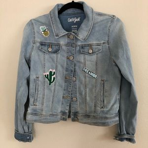 Cat and Jack Girls Patch Jean Jacket